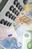 Calcolatore da tavolino con l'euro Fotografia Stock Libera da Diritti