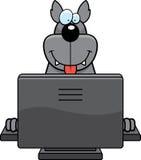 Calcolatore del lupo royalty illustrazione gratis