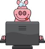 Calcolatore del maiale illustrazione di stock