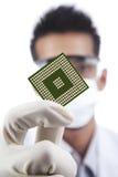 Calcolatore del microchip Immagine Stock