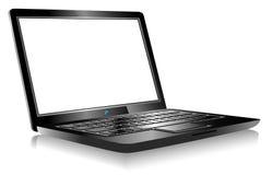 Calcolatore del PC del computer portatile su priorità bassa bianca illustrazione vettoriale