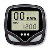 Calcolatore del tachimetro della bicicletta Fotografia Stock Libera da Diritti