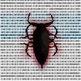 Calcolatore del virus Fotografie Stock Libere da Diritti