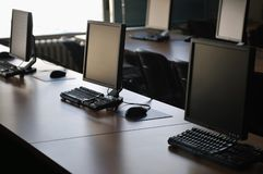 Calcolatore di aula Fotografie Stock