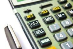Calcolatore di costo Fotografia Stock Libera da Diritti
