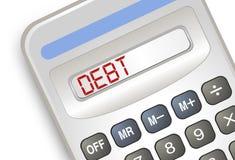 Calcolatore di debito Fotografie Stock Libere da Diritti