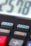 Calcolatore di imposta Fotografia Stock Libera da Diritti