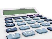 calcolatore di modello 3D con affissione a cristalli liquidi in bianco Immagini Stock