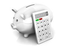 Calcolatore di risparmio Fotografia Stock