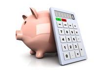 Calcolatore di risparmio Immagini Stock