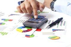 Calcolatore e dichiarazioni dei redditi Immagine Stock Libera da Diritti