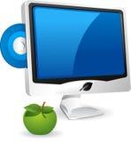 Calcolatore ed Apple. illustrazione vettoriale