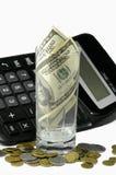 Calcolatore ed i soldi Immagini Stock