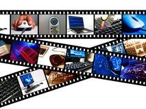 Calcolatore Filmstrips immagini stock