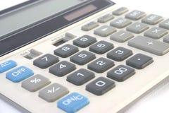 Calcolatore finanziario isolato Immagini Stock Libere da Diritti