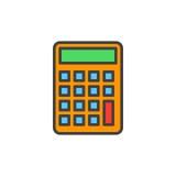 Calcolatore, icona riempita di stima del profilo royalty illustrazione gratis