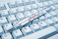 Calcolatore infettato Immagine Stock