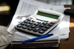 Calcolatore nel posto di lavoro Immagini Stock