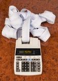 Calcolatore per i costi, spese, redditi e Fotografie Stock Libere da Diritti