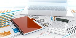 calcolatore per problemi commerciali con uno spazio in bianco Immagini Stock Libere da Diritti