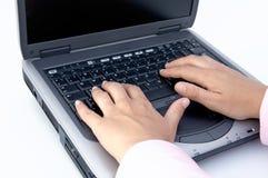 Calcolatore portatile Fotografia Stock Libera da Diritti