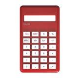 Calcolatore rosso Immagini Stock