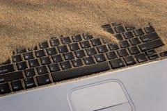 Calcolatore sepolto Fotografia Stock Libera da Diritti