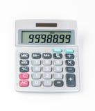 Calcolatore solare su fondo bianco Immagine Stock Libera da Diritti