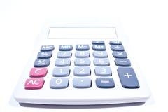 Calcolatore su una priorità bassa bianca. Fotografia Stock Libera da Diritti