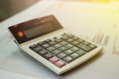 Calcolatore sul grafico fotografia stock