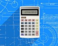 Calcolatore sul modello Fotografia Stock