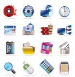 Calcolatore, telefono mobile ed icone del Internet royalty illustrazione gratis