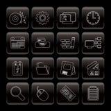 Calcolatore, telefono mobile ed Internet Fotografia Stock Libera da Diritti