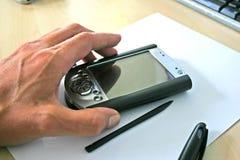 Calcolatore tenuto in mano immagine stock libera da diritti