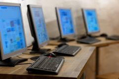 Calcolatori Fotografia Stock Libera da Diritti