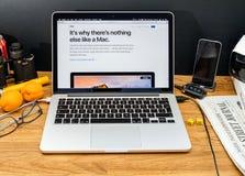 Calcolatori Apple agli ultimi annunci di WWDC di iMac Mac OS immagini stock libere da diritti