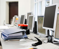 Calcolatori di ufficio Fotografia Stock Libera da Diritti