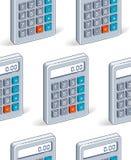 Calcolatori fondo senza cuciture, contesto per le tasse o sito Web di contabilità illustrazione vettoriale