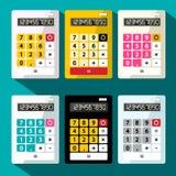 Calcolatori messi Calcolatore piano di progettazione illustrazione di stock
