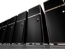 Calcolatori o server di modello della torretta Fotografie Stock