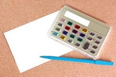 Calcolatrice elettronica alla moda immagini stock libere da diritti