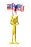 Calcoli con le bandiere americane Immagini Stock Libere da Diritti