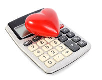 Calcoli di amore fotografia stock