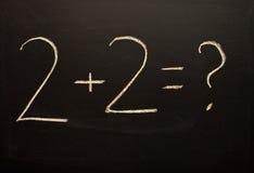 Calcoli di base Fotografia Stock Libera da Diritti