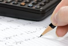 Calcoli di ingegneria Fotografia Stock