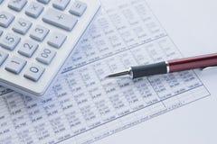 Calcoli ed equilibri Fotografie Stock Libere da Diritti