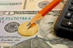Calcoli finanziari immagini stock