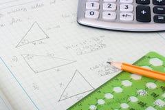 Calcoli geometrici Immagini Stock