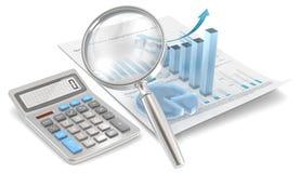 Calcoli la crescita. illustrazione di stock