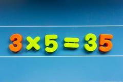 Calcoli matematici sbagliati su una lavagna fotografie stock libere da diritti
